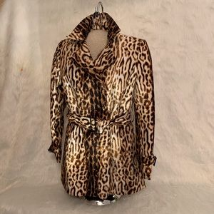 Raincoat Anne Klein Animal Print With Waist Tie
